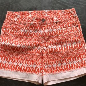 LOFT orange white shorts Clemson Auburn TN Texas 4